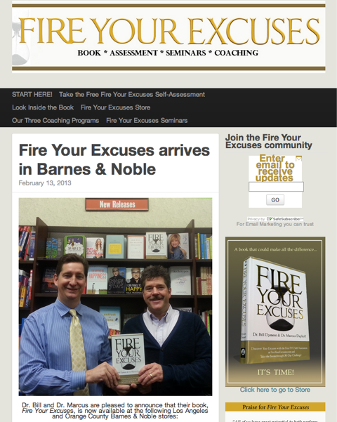 fire your excuses homepage