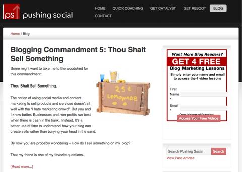 pushing social blog