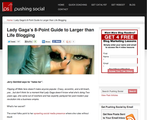 pushing social lady gaga