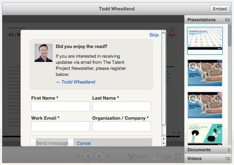 todd wheatland lead capture form