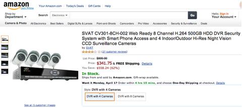 video surveillance equipment amazon