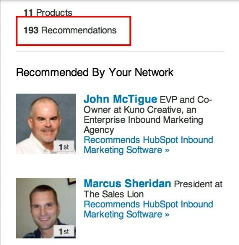 hubspot recommendations