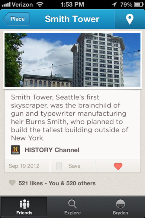 foursquare history tips