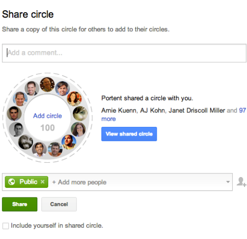 google+ sharing