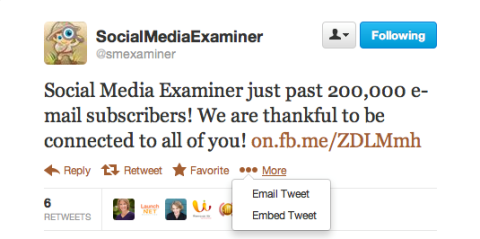 Embed tweet example