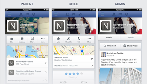 facebook mobile pages