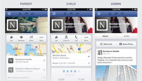 Facebook mobile Seiten