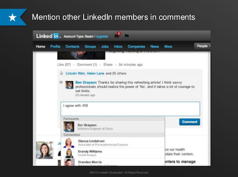 linkedin mentions