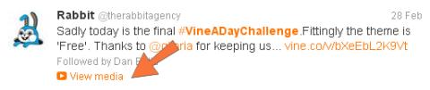 Vines tweet
