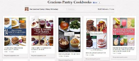 Gracious Pantry cookbooks board
