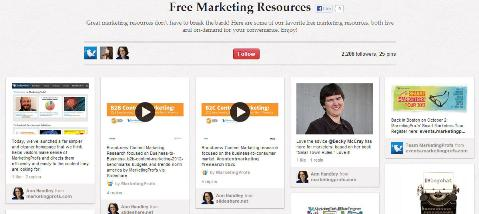 Marketing Profs free marketing resources board