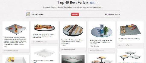 Top 40 best sellers gourmet display