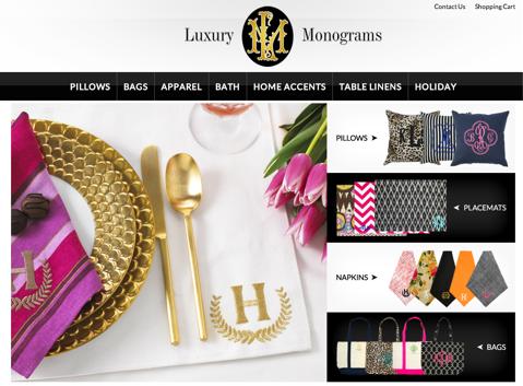 Luxus-Monogramme Website