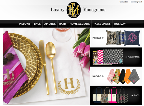 luxury monograms website