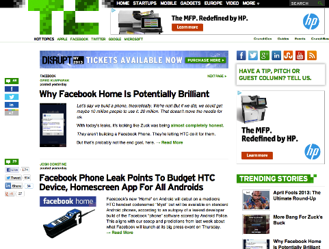 facebook tag on techcrunch