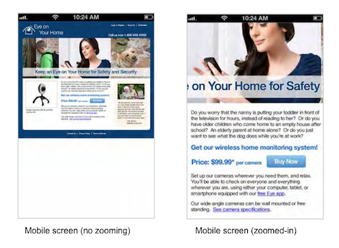 mobile constrained image