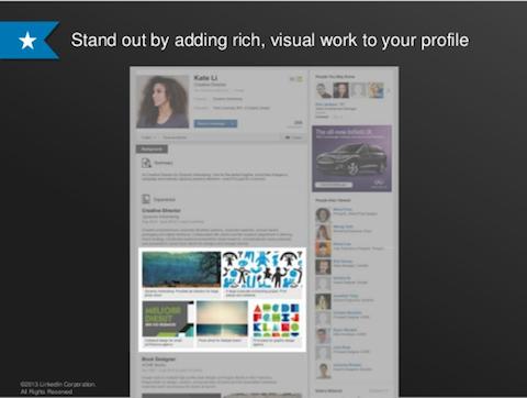 linkedin visual profile