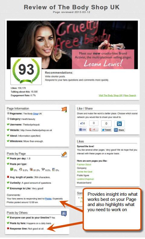 likealyzer sample page