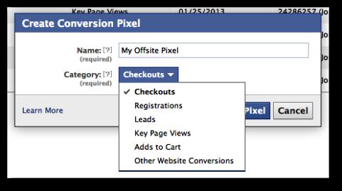 offsite pixel conversion