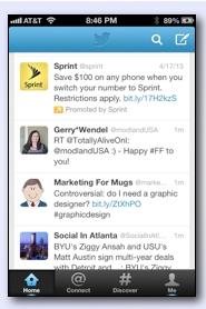Sprint bewarb Tweet