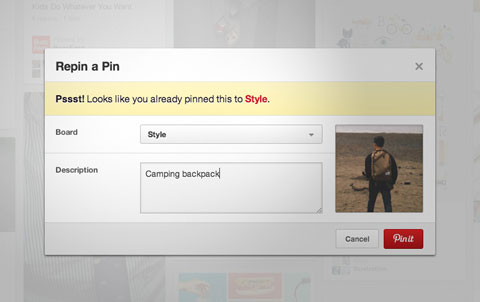 pinterest duplicate pin