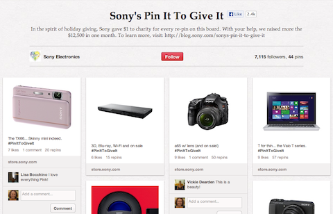 sony pin it to win