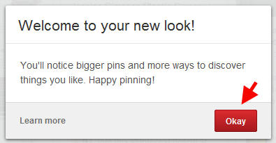Pinterest welcome to the new look