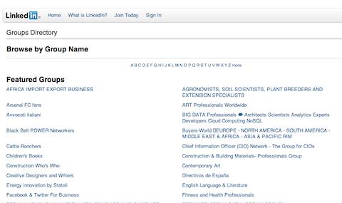 linkedin groups directory