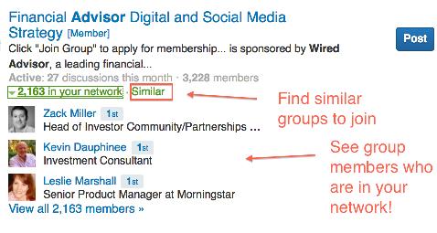 network group members