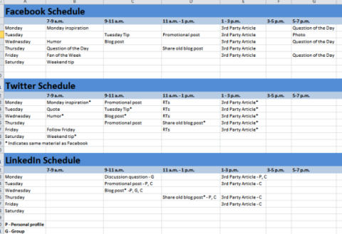 Easy Steps To Implement A Facebook Marketing Strategy Social - Facebook posting schedule template