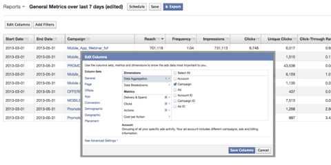 facebook ads manager reports