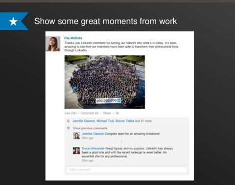 Linkedin Rich Updates