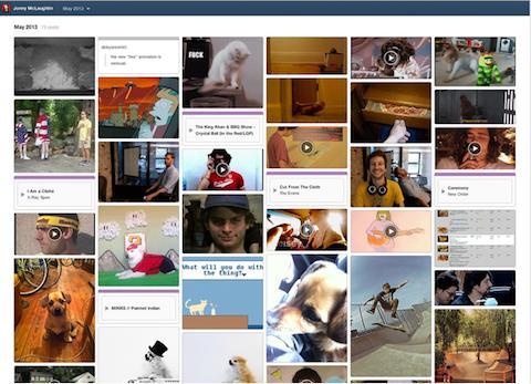 Tumblr-Archivseite