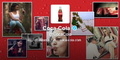 coca cola twitter header
