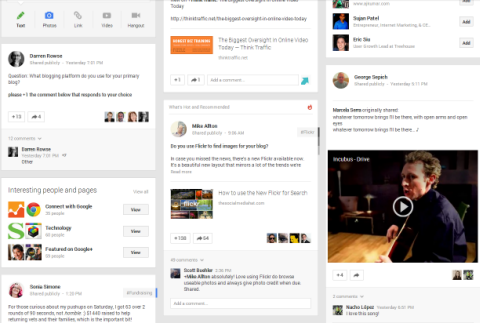 new google plus design