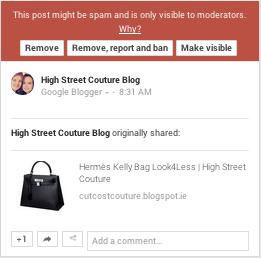 community spam notice