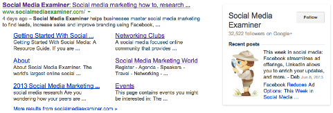 page in search results