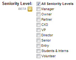 search seniority level