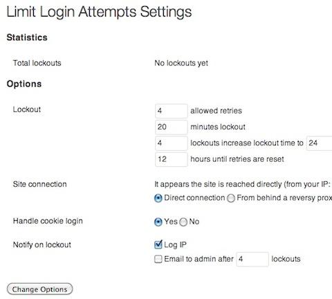 login attempts plugin