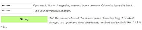 adding new password
