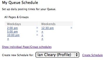 queue schedule