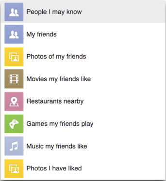 facebook search query