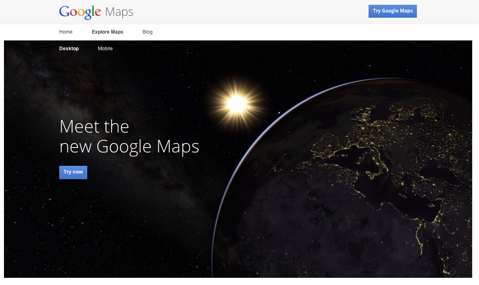 google maps home page