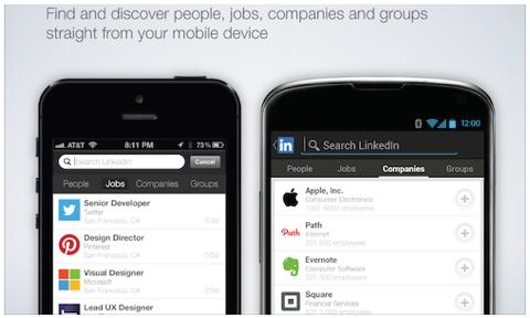 linkedin expand mobile