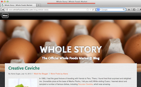 whole foods blog