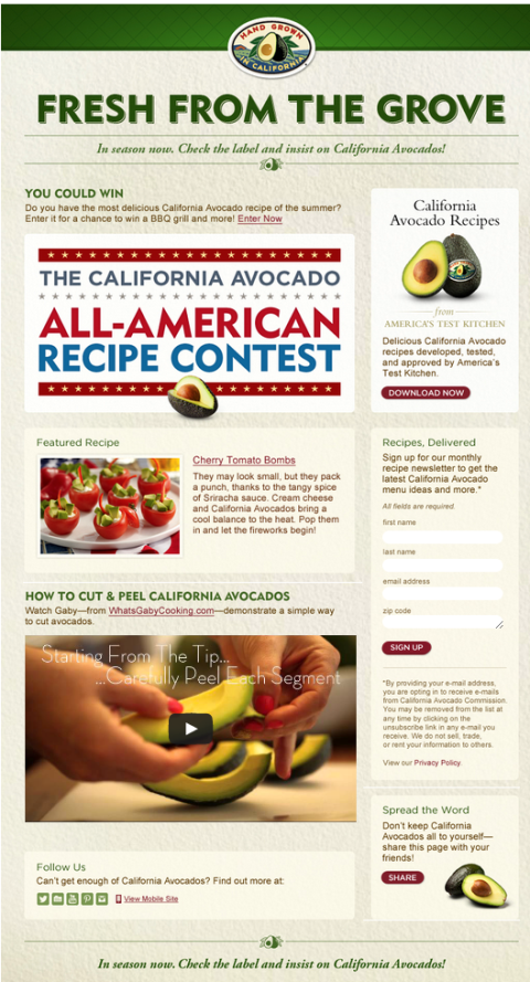 california avacado app