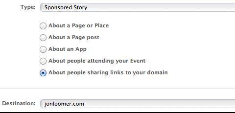 domain sponsored story
