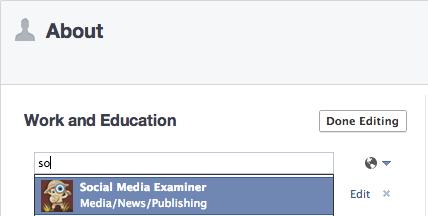 Hinzufügen eines Facebook-Seitenprofils