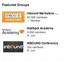 vorgestellte Gruppen auf LinkedIn