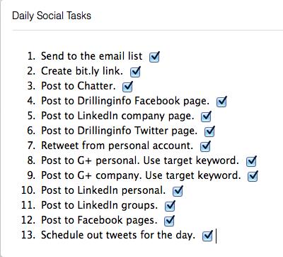 evernote checklist